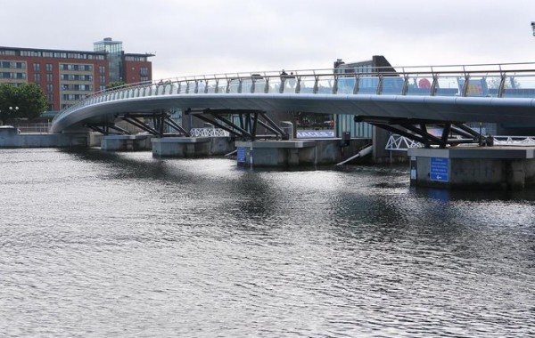 Lagan Weir Footbridge,<br> Belfast, N. Ireland